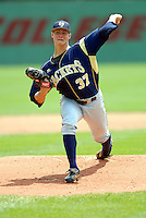 Georgia Tech LHP Jed Bradley in action vs. Boston College at Shea Field on May 22, 2010 in Chestnut Hill, MA (Photo by Ken Babbitt/Four Seam Images)
