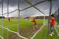 Pictured: Freddie Woodman (C) in action. Tuesday 25 May 2021<br /> Re: Training at the Fairwood Training Ground near Swansea, Wales, UK
