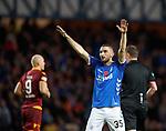 11.11.2018 Rangers v Motherwell: Eros Grezda celebrates as he hits goal no 7 for Rangers