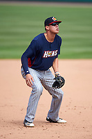 Toledo Mudhens third baseman JaCoby Jones (5) during a game against the Rochester Red Wings on June 12, 2016 at Frontier Field in Rochester, New York.  Rochester defeated Toledo 9-7.  (Mike Janes/Four Seam Images)