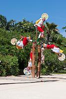 Mayan Performers.  Xcaret, Riviera Maya, Yucatan, Mexico.