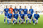 St Johnstone v Lask…26.08.21  McDiarmid Park    Europa Conference League Qualifier<br />The starting XI, back row from left, Jason Kerr, Zander Clark, Shaun Rooney, Callum Booth, Jamie McCart and Murray Davidson.<br />Front row from left, Michael O'Halloran, Chris Kane, Ali McCann, James Brown and Glenn Middleton.<br />Picture by Graeme Hart.<br />Copyright Perthshire Picture Agency<br />Tel: 01738 623350  Mobile: 07990 594431