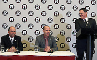 Marcel Desjardins GM Rick Campbell Head Coach Barre Campbell Ottawa RedBlacks 2013. Photo Scott Grant