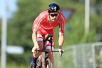 9th September 2021; Trento, Trentino–Alto Adige, Italy: 2021 UEC Road European Cycling Championships, Mens Individual time trials: ASGREEN Kasper (DEN)