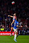 Jorge Resurreccion 'Koke' of Atletico de Madrid and Ander Capa of Athletic Club de Bilbao during the La Liga match between Atletico de Madrid and Athletic Club de Bilbao at Wanda Metropolitano Stadium in Madrid, Spain. October 26, 2019. (ALTERPHOTOS/A. Perez Meca)