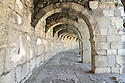 Arches in the Romsn theater in Aspendos Turkey.