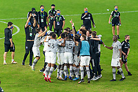 WASHINGTON, DC - NOVEMBER 8: The Montreal Impact celebrate making the playoffs after a game between Montreal Impact and D.C. United at Audi Field on November 8, 2020 in Washington, DC.