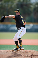 Pittsburgh Pirates pitcher Nick Burdi (57) throws live batting practice during the teams first Spring Training practice on February 18, 2019 at Pirate City in Bradenton, Florida.  (Mike Janes/Four Seam Images)
