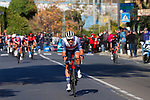 Jasper Stuyven (BEL) Trek-Segafredo launches his attack 2km from the finish of the 112th edition of Milan-San Remo 2021, running 299km from Milan to San Remo, Italy. 20th March 2021.<br /> Photo: LaPresse/POOL/Luca Bettini   Cyclefile<br /> <br /> All photos usage must carry mandatory copyright credit (© Cyclefile   LaPresse/POOL/Luca Bettini)