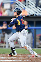 State College Spikes outfielder Rowan Wick (28) at bat during a game against the Batavia Muckdogs on July 3, 2014 at Dwyer Stadium in Batavia, New York.  State College defeated Batavia 7-1.  (Mike Janes/Four Seam Images)