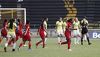 ITAGUI-COLOMBIA,16-11-2020:Deportivo Independiente Medellín y Atlético Bucaramanga  en partido por la fecha 5 de la Liga femenina BetPlay DIMAYOR I 2020 jugado en el estadio Metropolitano de Itagui. /Deportivo Independiente Medellin and Atletico Bucaramanga in match for the date 5 BetPlay DIMAYOR women´s  League I 2020 played at Metropolitano de Itagui . Photo: VizzorImage/ Juan Augusto Cardona / Contribuidor