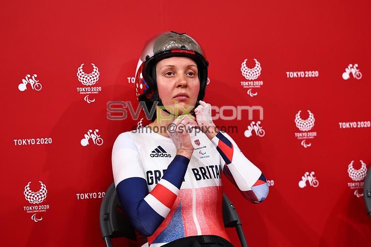 Picture by Alex Whitehead/SWpix.com - Tokyo Paralympics 2020 - 25/08/2021 - Track Cycling - Izu Velodrome, Izu, Japan<br /> - Women's 3000m Individual Pursuit, Crystal Lane Wright