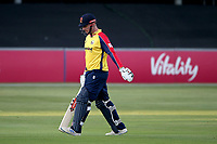 Simon Harmer of Essex leaves the field having been dismissed for 5 during Essex Eagles vs Sussex Sharks, Vitality Blast T20 Cricket at The Cloudfm County Ground on 15th June 2021
