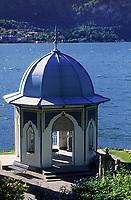 """Europe/Italie/Lac de Come/Lombardie/Bellagio : Villa """"Melzi"""" - Petit temple de style mauresque dans les jardins"""