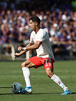 Calcio, Serie A: Fiorentina - Juventus, stadio Artemio Franchi Firenze 14 settembre 2019<br /> Juventus' Cristiano Ronaldo in action during the Italian Serie A football match between Fiorentina and Juventus at Florence's Artemio Franchi stadium, September 14, 2019. <br /> UPDATE IMAGES PRESS/Isabella Bonotto