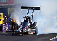 Apr 21, 2017; Baytown, TX, USA; NHRA top fuel driver Scott Palmer during qualifying for the Springnationals at Royal Purple Raceway. Mandatory Credit: Mark J. Rebilas-USA TODAY Sports