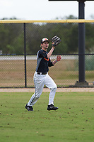 Dominic Flacco (6) of Ormond Beach, Florida during the Baseball Factory All-America Pre-Season Rookie Tournament, powered by Under Armour, on January 13, 2018 at Lake Myrtle Sports Complex in Auburndale, Florida.  (Michael Johnson/Four Seam Images)
