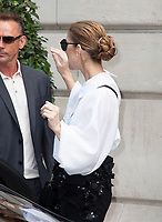 July 29 2017, PARIS FRANCE Singer Celine Dion leaves the Royal Monceau Hotel on Avenue Hoche to go to her show in London