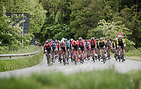 peloton not daring to make the race hard (with very strong cross tail wind all day) in fear of losing time for their team leaders if echelon chaos would errupt<br /> <br /> Stage 3: Vinci to Orbetello (219km)<br /> 102nd Giro d'Italia 2019<br /> <br /> ©kramon