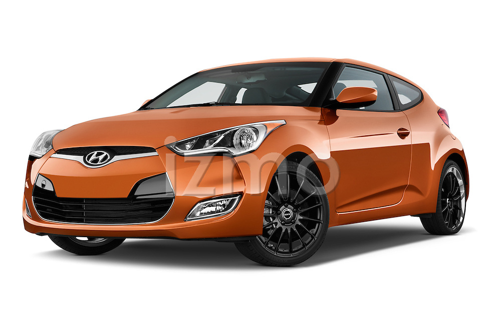 Stock pictures of low aggressive front three quarter view of 2016 Hyundai Veloster 1.6-Manual 4 Door Hatchback Low Aggressive