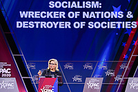 National Harbor, MD - February 27, 2020: U.S. Rep. Liz Cheney speaks during CPAC 2020 hosted by the American Conservative Union at the Gaylord National Resort at National Harbor, MD February 27, 2020.  (Photo by Don Baxter/Media Images International)