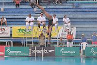 MEDELLIN -COLOMBIA, 08-06-2013. La colombiana Isabel Pérez en uno de sus intentos en el trampolín de 3 metros durante el Campeonato Sudamericanos de Clavados en Medellín. Pérez ganó la medalla de plata/<br /> Colombian diver Isabel Perez in an attempt at the 3m springboard during the XXIV South American championship diving in Medellin. Perez won the silver medal in this category. Photo: VizzorImage/Luis Rios/STR