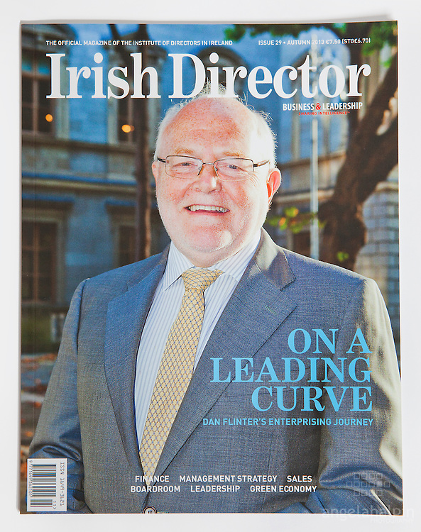 Dan Flinter since he retired  as Chief Executive of Enterprise Ireland 10 years ago, he has gone to develop a successful and varied career. Front cover of Irish Director Magazine.