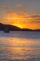 Sunset from Francis Bay<br /> Virgin Islands National Park<br /> St. John<br /> U.S. Virgin Islands