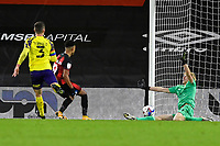 Junior Stanislas of AFC Bournemouth scores the fourth goal during AFC Bournemouth vs Huddersfield Town, Sky Bet EFL Championship Football at the Vitality Stadium on 12th December 2020