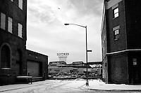 USA. Manhattan. 20th January 2009.Industrial area, Brooklyn..©Andrew Testa