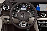 Car pictures of steering wheel view of a 2018 Mercedes Benz E Class E400 2 Door Convertible