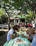 Dominicks (812 Monroe Street; 734-662-5414), is a local favorite for summer-time drinks nestled in a two-story balconied house with cozy backyard, Friday, Sept. 2, 2011 in Ann Arbor, Mich. (Tony Ding for The New York Times)