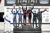 #37 LA Honda World Racing Honda Civic TCR, TCR: Tom O'Gorman, Shelby Blackstock, #21 Byan Herta Autosport W Curb-Agajanian Hyundai Veloster N TCR, TCR: Mason Filippi, Harry Gottsacker, #61 Roadshagger Racing by eEuroparts.com Audi RS3 LMS TCR DSG, TCR: Gavin Ernstone, Jon Morley, podium, champagne