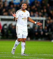 Ashley Williams of Swansea City during the Barclays Premier League match between Swansea City and West Ham United played at The Liberty Stadium, Swansea on 20th December 2015