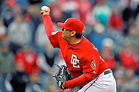 13 April 2008: Washington Nationals' pitcher Chad Cordero on the mound against the Atlanta Braves at Nationals Park, in Washington, DC. The Nationals ended their 9-game losing streak by defeating the Braves 5-4 in the last game of their 3-game series...Mandatory Photo Credit: Ed Wolfstein Photo