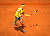 Paris, France, 29 May, 2019, Tennis, French Open, Roland Garros, Rafael Nadal (ESP) in action against Yannick Maden (GER)<br /> Photo: Henk Koster/tennisimages.com