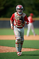 Philadelphia Phillies catcher Cesar Rodriguez (12) during a Florida Instructional League game against the New York Yankees on October 11, 2018 at Yankee Complex in Tampa, Florida.  (Mike Janes/Four Seam Images)