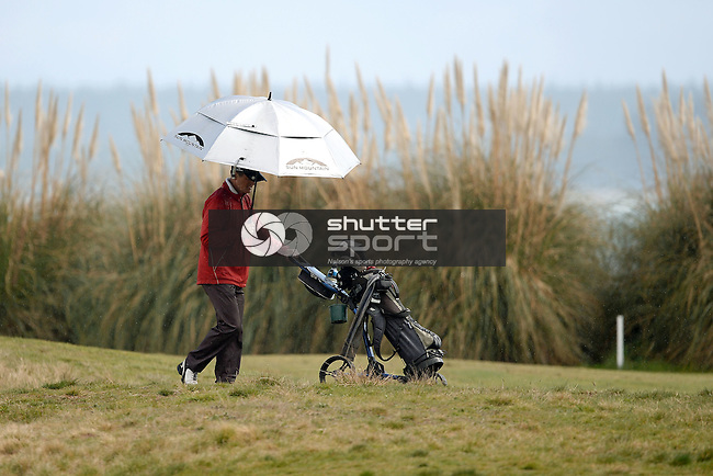 NELSON, NEW ZEALAND - OCTOBER 1: Golf Gross Championship at the Nelson Golf Course during the NZCT 2015 South Island Masters Games, October 1, 2015 in Nelson, New Zealand. (Photo by Barry Whitnall/Shuttersport Limited)