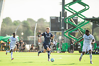 LAKE BUENA VISTA, FL - JULY 9: Keaton Parks #55 of NYCFC during a game between New York City FC and Philadelphia Union at Wide World of Sports on July 9, 2020 in Lake Buena Vista, Florida.