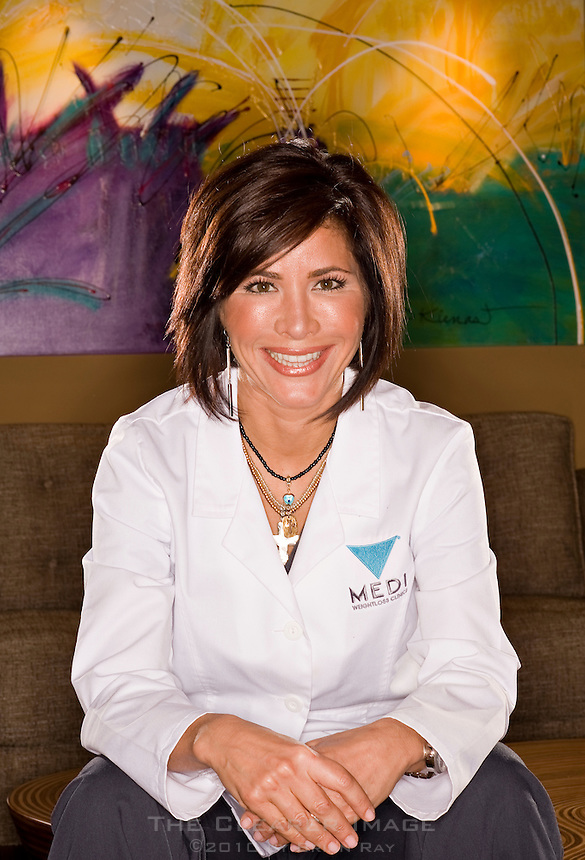 Portrait photo shoot of Dr. Isabel Lopez for Latino Leaders Magazine at the Medi-Weightloss Clinics facility in Southlake, TX on Tuesday, January 18, 2011.