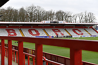 General view of the Lamex Stadium during Stevenage vs Barrow, Sky Bet EFL League 2 Football at the Lamex Stadium on 27th March 2021
