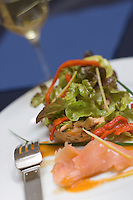 """Europe/France/Aquitaine/Gironde/Bordeaux: Rillettes de saumon au piment d'Espelette recette du restaurant de Denis Franc """"Quai Zaco"""" 80, des Chartrons"""