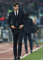 Football, Serie A: AS Roma - S.S. Lazio, Olympic stadium, Rome, January 26, 2020. <br /> Roma's coach Paulo Fonseca looks on during the Italian Serie A football match between Roma and Lazio at Olympic stadium in Rome, on January,  26, 2020. <br /> UPDATE IMAGES PRESS/Isabella Bonotto
