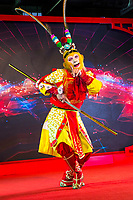 Wenzhou, Zhejiang, China.  Performer Portraying The Monkey King, a Mythological, Literary Creature Dating to the Song Dynasty (10th-13th Centuries).