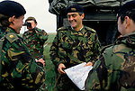 Duke of Westminster the 6th duke, Salisbury Plain weekend exercises with the Territorial Army on Wiltshire UK 1990s