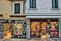 Souvenir shops, Venice, Italy