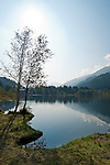 Austria, Tyrol, near Kitzbuhel: idyllic Schwarzsee (Black Lake) on the outskirts of Kitzbuhel