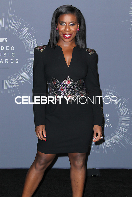 INGLEWOOD, CA, USA - AUGUST 24: Actress Uzo Aduba poses in the press room at the 2014 MTV Video Music Awards held at The Forum on August 24, 2014 in the Inglewood, California, United States. (Photo by Xavier Collin/Celebrity Monitor)
