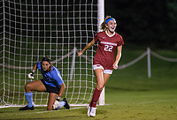 NWA Democrat-Gazette/BEN GOFF @NWABENGOFF<br /> Parker Goins (22), Arkansas forward, celebrates after getting a goal shot past Taiana Tolleson, Vanderbilt goalkeeper, in the second half Thursday, Sept. 26, 2019, at Razorback Field in Fayetteville.