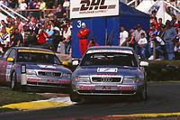 1997 British Touring Car Championship. #7 John Bintcliffe (GBR) & #1 Frank Biela (DUE). Audi Sport UK. Audi A4 Quattro.